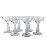 Hollow Stem Champagne Coupes Crystal Cocktail Stemware