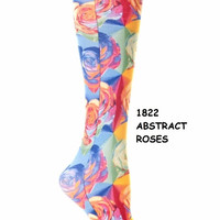 Celeste Stein Compression Socks {Abstract Roses}