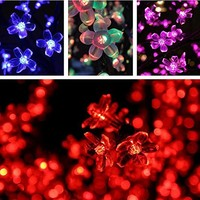 Esky EY-2 Waterproof Cherry Blossom LED Strip Light Kit with 8 Controllable Modes(32.8-Feet)