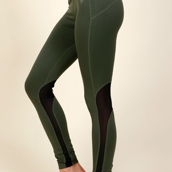 Get The MESHage Leggings Olive