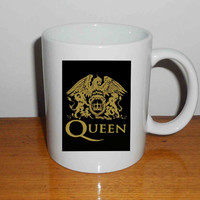 "queen logo gold - Mug, Quote Mug, Beyonce Mug, Ceramic Mug, typography, Beyonce Quote, Cup Mug ""NP"""