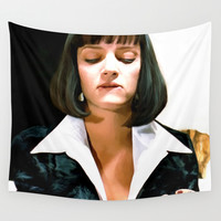 Uma Thurman @ Pulp Fiction Wall Tapestry by Gabriel T Toro | Society6