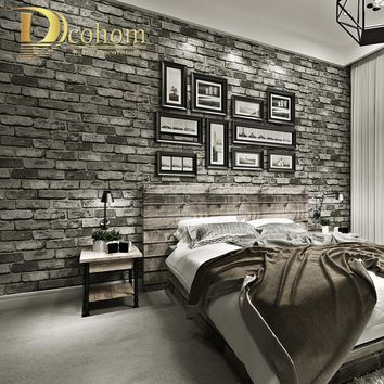 Modern Vintage Brick Textured Wallpaper For Walls Decor Embossed 3D Wall paper Rolls