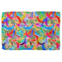 Colorful Crescent Design on Kitchen Towel