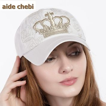 [aide chebi]2017 crown baseball cap parent child cap Kids snapback caps for women men girl cotton hat Boys bone summer casquette