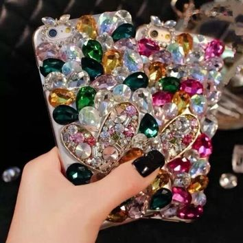Luxury Bling Diamond Phone Case for Samsung Galaxy S3 S4 S5 S6 S6 Edge S6 Edge Plus S7 S7 Edge S8 S8 Plus Glitter Cover Coque 1 2