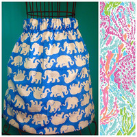 Women's Custom Lilly Pulitzer Let's Cha Cha Skirt