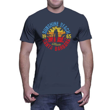Sunshine Beach Santa Barbara 1965 Graphic Tee (mj-os-NL3600-sunshinebeach-mltclr)