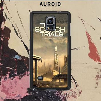 The Scorch Trials Poster Samsung Galaxy Note 4 Case Auroid
