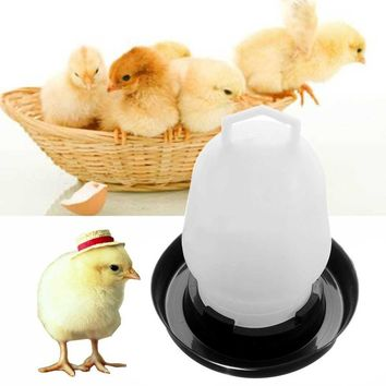 1pc Chicken Quail Poultry Bird Pheasant Feed Drink Water Tool Automatic Feeder