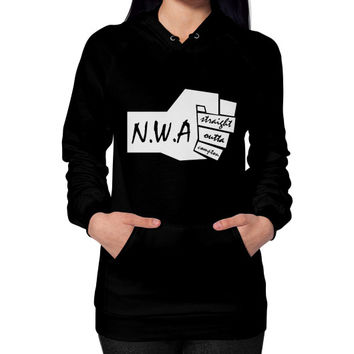 NWA straight outta compton Hoodie (on woman)