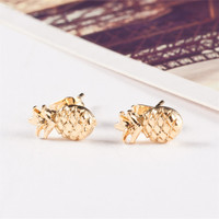 Tiny And Cute Pineapple Stud Earring Make A Good Gift