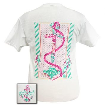 Girlie Girl Preppy Rope Anchor T-Shirt