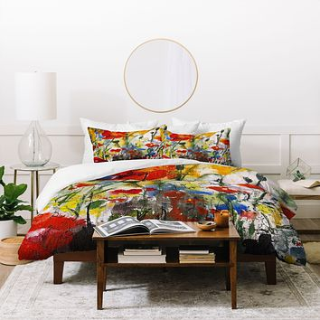 Ginette Fine Art Wildflowers Poppies 1 Duvet Cover