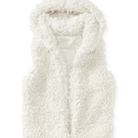 Aeropostale  Furry Hooded Vest