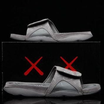 ONETOW KAWS x Air Jordan Hydro 4 Cool Grey  930155-003 Men Shoes