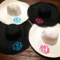 Floppy Beach Hat Monogrammed