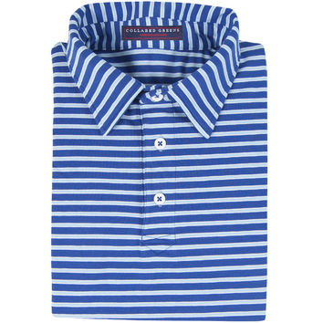 The Ward Men's Performance Polo Navy/Carolina