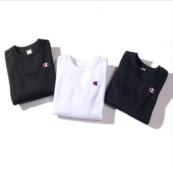 LMFIH3 Plus cashmere embroidered round neck men and women couples sweaters