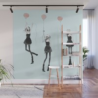 Girls Afloat Wall Mural by allisonreich