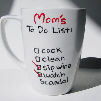 Mother's Day Gift, Personalized Mug for her, To Do List, Funny Gift for Mom