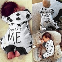 2017 Newborn Clothes Baby Boy Clothes Long Sleeve Baby Romper Baby Girl Clothing Jumpsuit Toddler Suit Infant Clothing