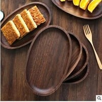 Wooden Dishes - Black Walnut Dessert Dish