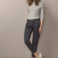 PLEATED CHINOS - Trousers & Denim - WOMEN - España (Excepto Canarias)/Spain (except the Canary Islands)