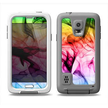 The Neon Glowing Fumes Samsung Galaxy S5 LifeProof Fre Case Skin Set
