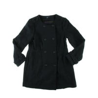 Tommy Hilfiger Womens Wool Blend Double Breasted Pea Coat