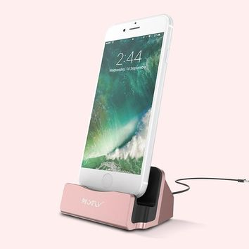 RAXFLY Phone Charging Dock For iPhone - Rose Gold