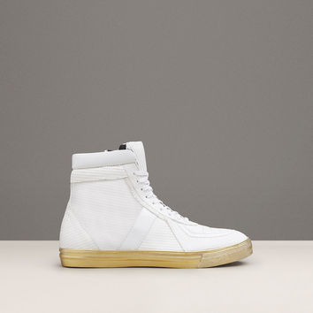 FOREST-ER CROCO-EMBOSSED LEATHER HIGH-TOP