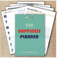 a5 planner inserts printable binder pages bundle a5 weekly planner pad notepad daily hourly happiness appointment (day on one page)