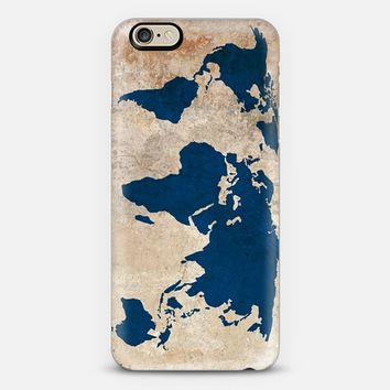 Rustic World Map iPhone 6 case by BySamantha \ Samantha Ranlet | Casetify