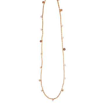 Tory Burch Necklace with pearls and logo