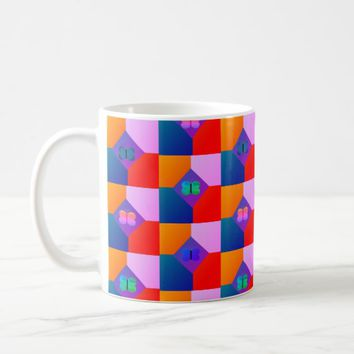 Tiled Butterfly Diamonds Coffee Mug