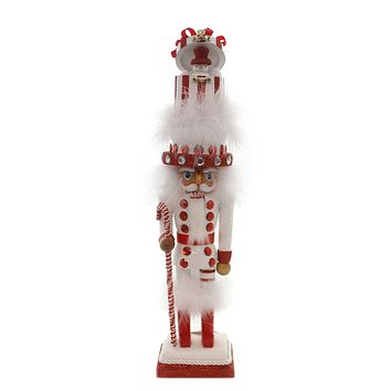 Christmas HOLLYWOOD SNOWMAN HAT NUTCRACKER Wood Whimsical Ha0265 White