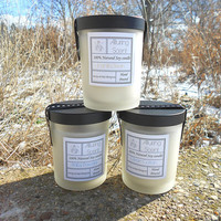 You pick - Buy three and save 6.00. Wood wick, natural soy candle.