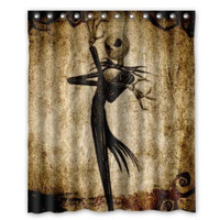"66"" x 72"" Mr. Skellington Shower Curtain"
