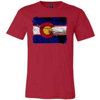 Colorado State Patriotic US Vintage Flag T-shirt