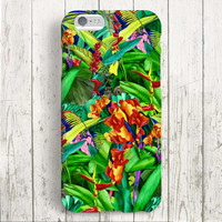 iPhone 6 Case, iPhone 6 Plus Case, iPhone 5S Case, iPhone 5 Case, iPhone 5C Case, iPhone 4S Case, iPhone 4 Case - Tropical flowers