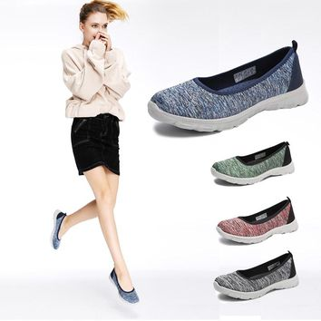 Women loafers outdoor walking shoes big girls traveling flats women  light weight breathable  sneakers   slip-on flats shoes