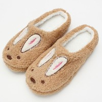 Retail Cute Style Rabbit Women Men Winter Slippers Animal Pattern Home Slippers For Lo