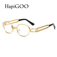 Fashion Vintage Women Oval Gradient Clear Sunglasses Men Steampunk Designer Retro Glasses Frame Female Eyeglasses