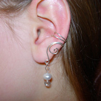 EAR CUFFS Pair of Solid Sterling Silver Ear Cuffs by jhammerberg