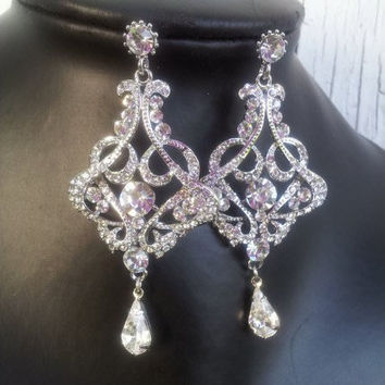 Katia Swarovski crystal chandelier earrings