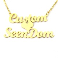 Personalized Custom 2 Names Necklace (Couple Necklace)