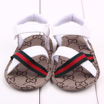 Lovely 1pair Baby Sandals summer antiskid Boy First Walkers,Cheap Soft Shoes,Brand toddlers/Newborn Prewalker