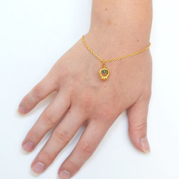 Gold Pomegranate bracelet for women. Personalized jewelry