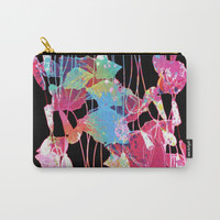 festive abstract bouquet with light Carry-All Pouch by clemm